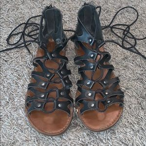 American Eagle lace-up leather sandals